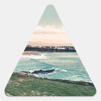 Great Western Beach Newquay Triangle Sticker