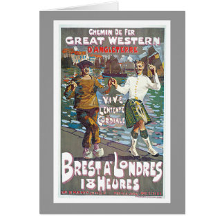 Great Western Railway, Brut a Londres Travel Greeting Card
