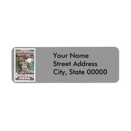 Great Western Railway, Brut a Londres Travel Custom Return Address Labels
