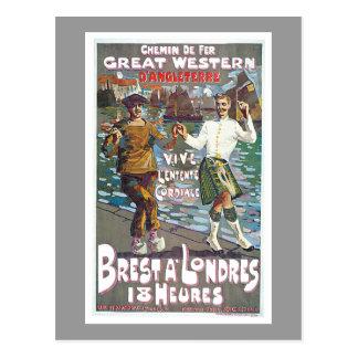 Great Western Railway, Brut a Londres Travel Postcard