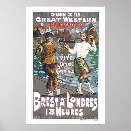 Great Western Railway, Brut a Londres Travel Print