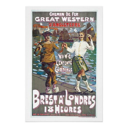 Great Western Railway, Brut a Londres Travel Poster