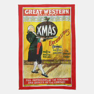 Great Western Railway Xmas Excursions Kitchen Towel