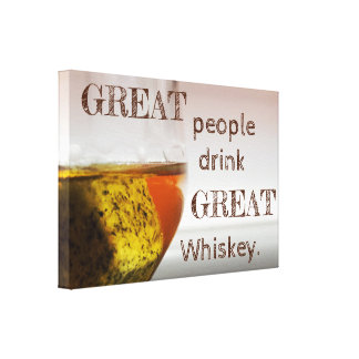 Great Whiskey Canvas Print