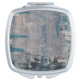 """""""Great White"""" abstract art mirror"""