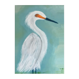 Great White Egret Fine Art Painting