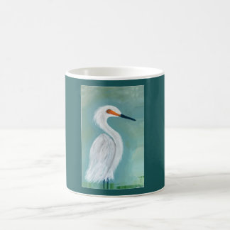 Great White Egret Fine Art Painting Coffee Mug