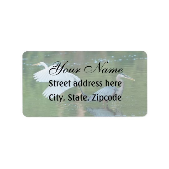 Great White Egret Label