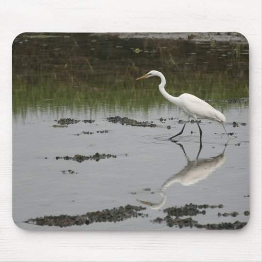 Great White Egret Mousepad