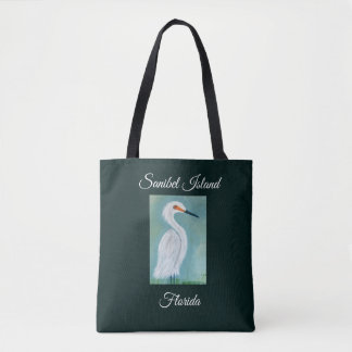 Great White Egret Painting - Sanibel Fine Art Tote Bag