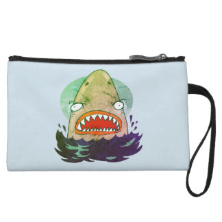 great white funny cartoon wristlet