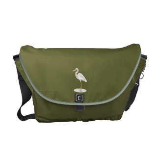 Great White heron Commuter Bags