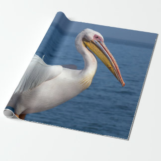 Great white pelican wrapping paper