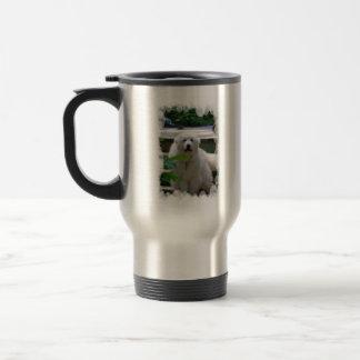 Great White Pyrenees Dog Travel Mug