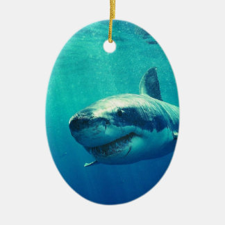 GREAT WHITE SHARK 1 CERAMIC ORNAMENT