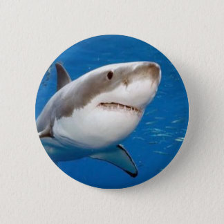 Great White Shark 2 Inch Round Button