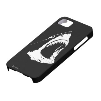 Great White Shark Black And White Design iPhone 5 Cases