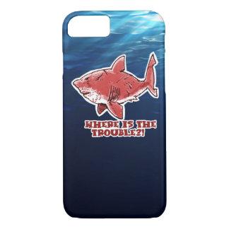 great white shark cartoon underwater scene iPhone 8/7 case