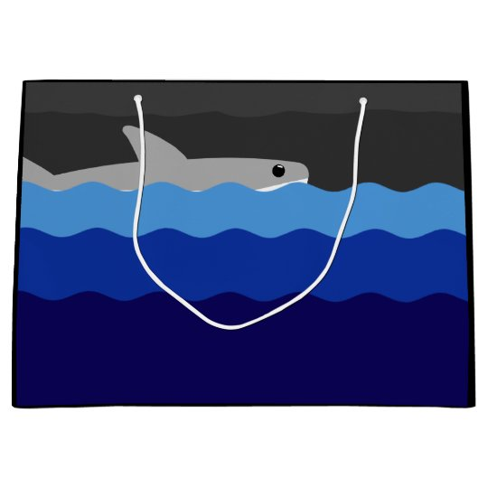 Great White Shark Drawing Large Gift Bag