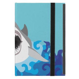 Great White Shark Funny Cartoon Cases For iPad Mini