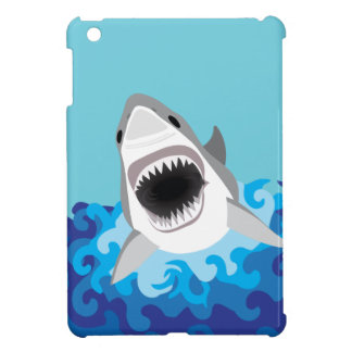 Great White Shark Funny Cartoon iPad Mini Cases