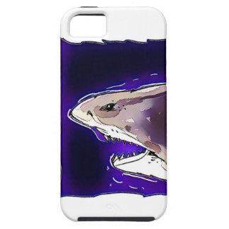 great white shark half body cartoon iPhone 5 cover