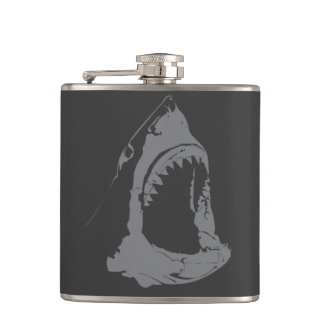 Great White Shark Hip Flask