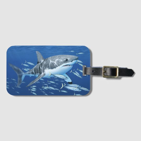 Great White Shark in Habitat Luggage Tag