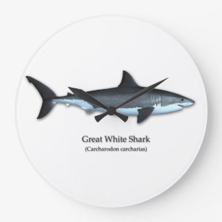 Great White Shark Large Clock