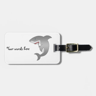 Great white shark luggage tag