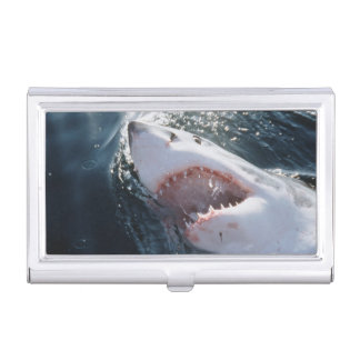 Great White Shark on sea Business Card Cases