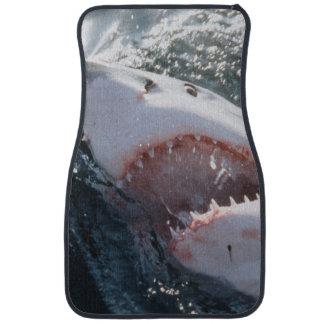 Great White Shark on sea Car Mat