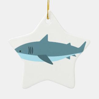 Great White Shark Primitive Style Ceramic Ornament