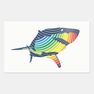 Great White Shark Swoosh Sticker