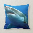 Great White Shark Throw Pillow