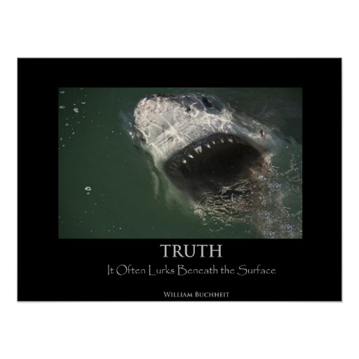 "Great White Shark ""Truth"" Poster"