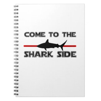 Great White Sharks  Come to the Sharks Funny Notebook