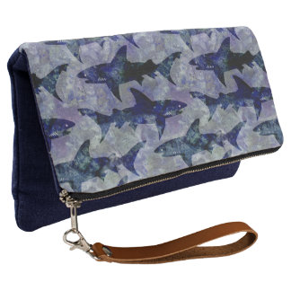 Great White Sharks in the Deep Blue Sea Clutch