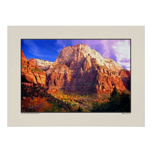 Great White Throne - Zion National Park, Utah Posters