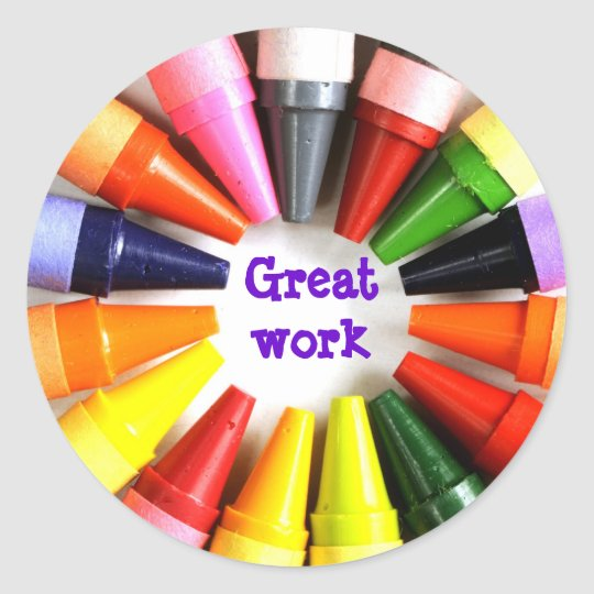 great work classic round sticker