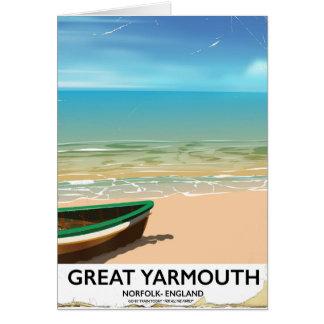 Great Yarmouth, Norfolk, Seaside travel poster Card