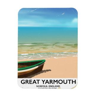 Great Yarmouth, Norfolk, Seaside travel poster Magnet