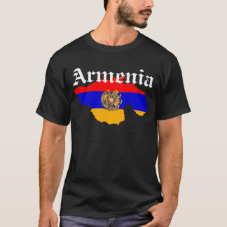 Greater Armenia Flag Map T-Shirt