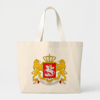 Greater_coat_of_arms_of_Georgia Large Tote Bag