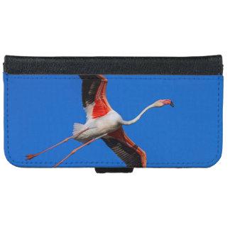 Greater flamingo, phoenicopterus roseus iPhone 6 wallet case