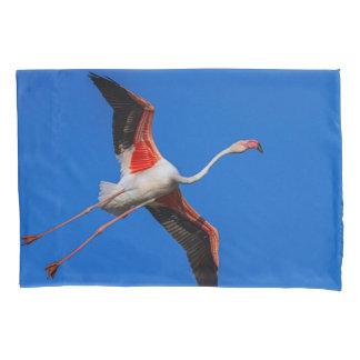 Greater flamingo, phoenicopterus roseus pillowcase
