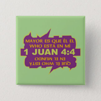 GREATER IS HE© ButtonESP 2 Inch Square Button