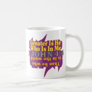 GREATER IS HE© COFFEE MUG