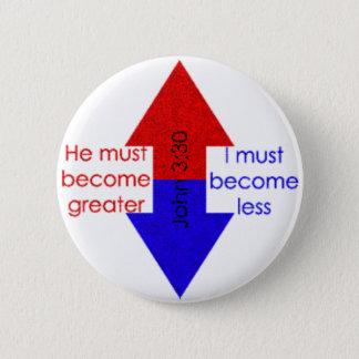 Greater...Lesser 2 Inch Round Button