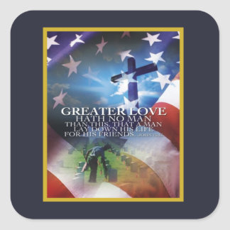 Greater Love Veterans Day Stickers
